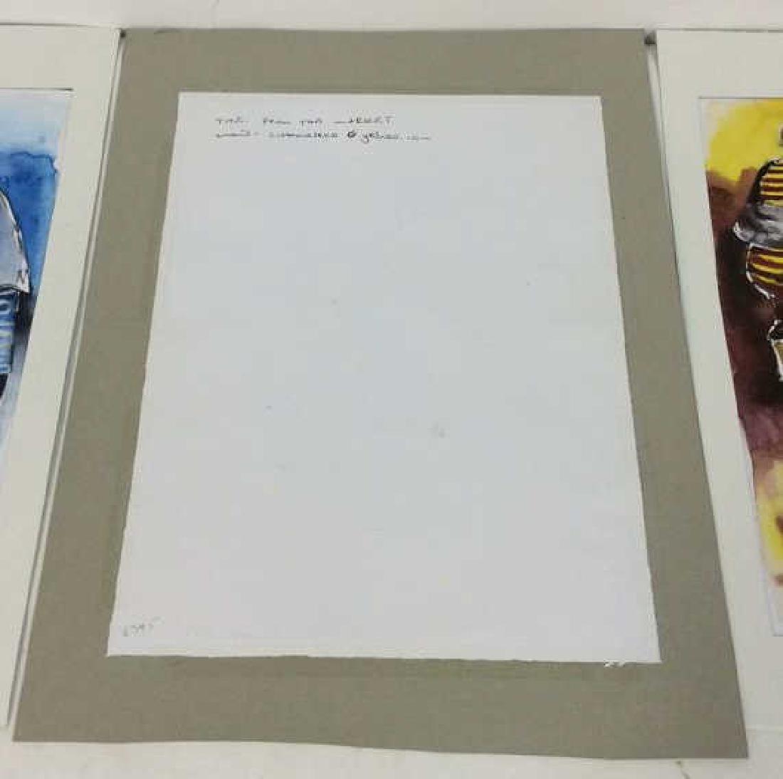 Lot 3 Signed Owen Maseko Watercolor Painting - 9