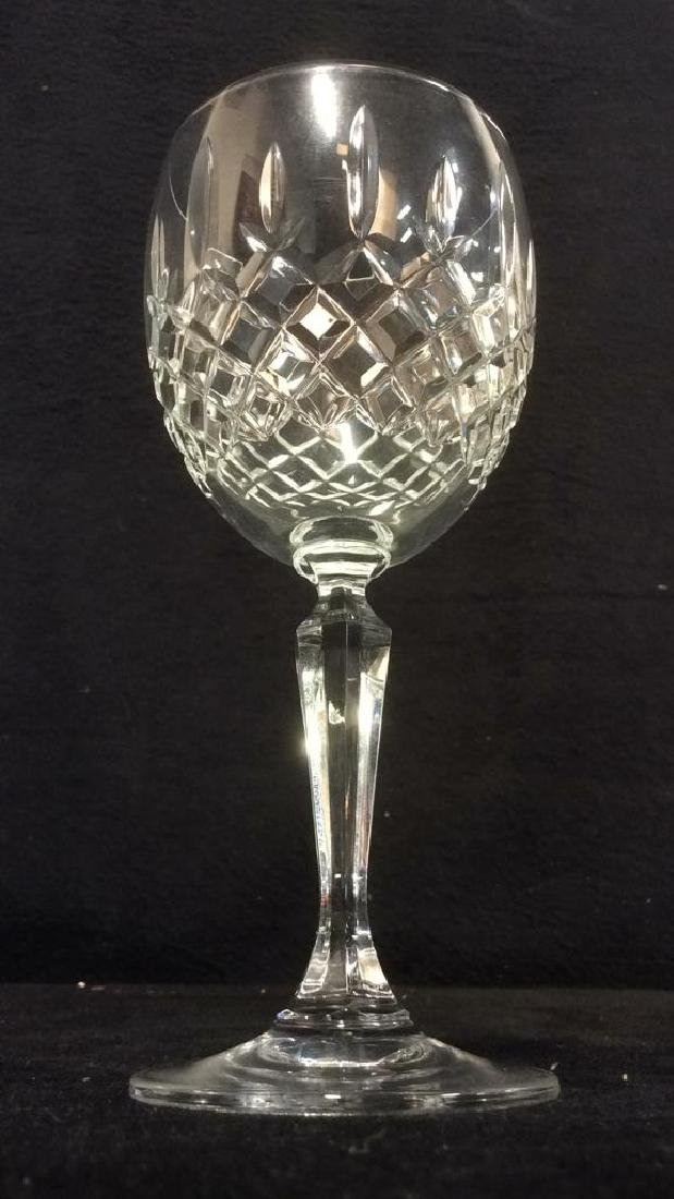 Pair CAVAN IRELAND Cut Crystal Wine Glasses - 2