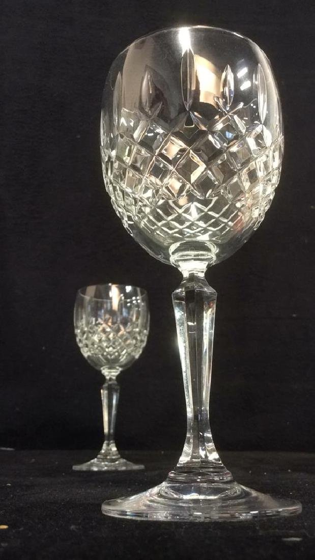Pair CAVAN IRELAND Cut Crystal Wine Glasses - 4