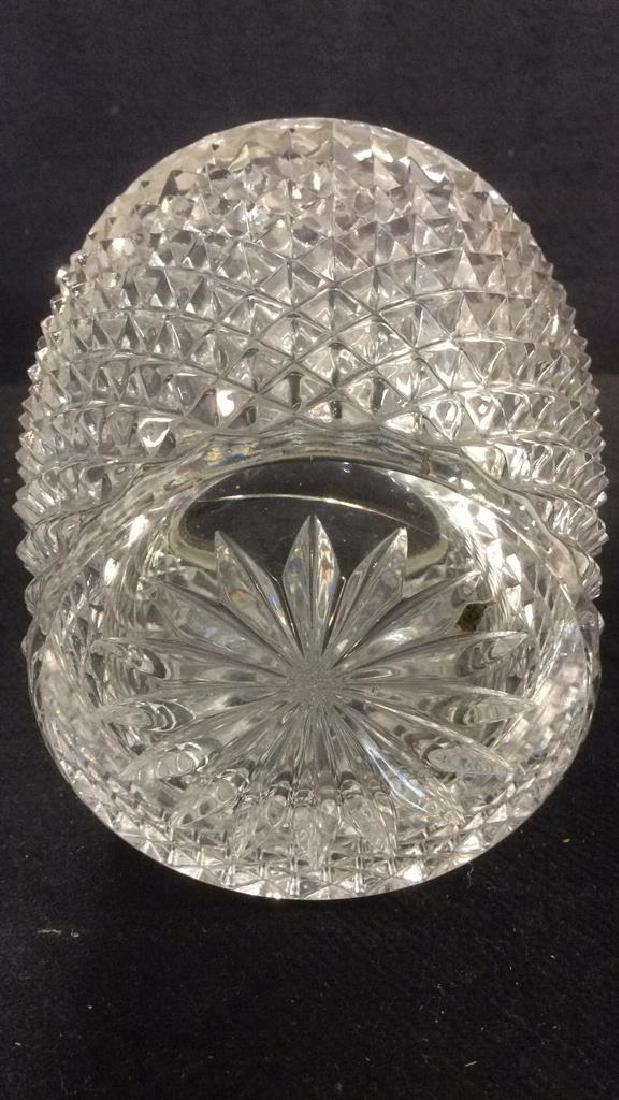 Cut Crystal Glass Handled Ice Bucket - 7