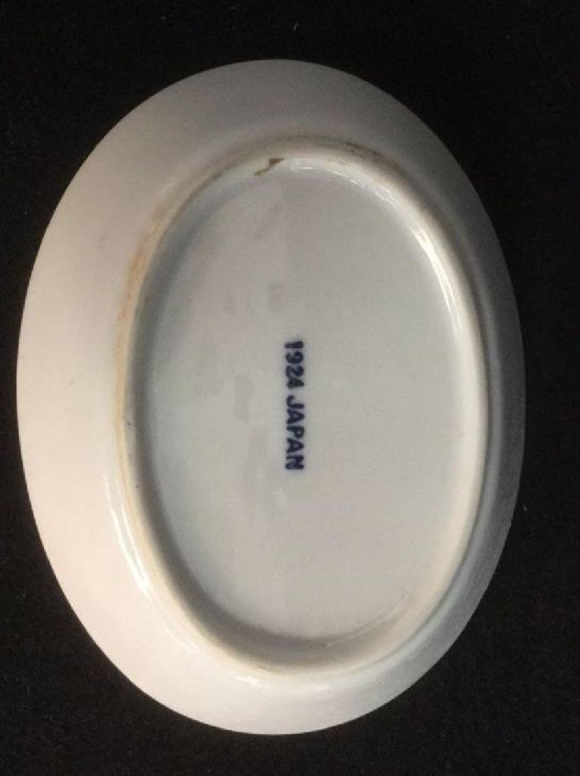 Lot 2 Porcelain Soap Dish And Toothbrush Holder - 5