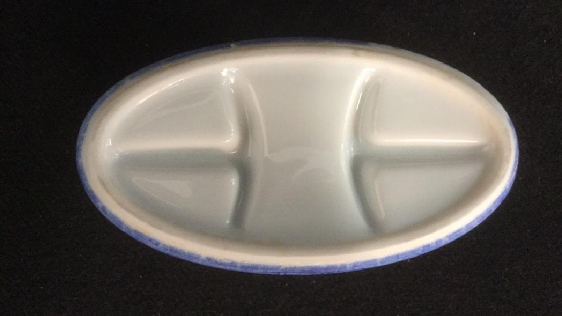 Lot 2 Porcelain Soap Dish And Toothbrush Holder - 7