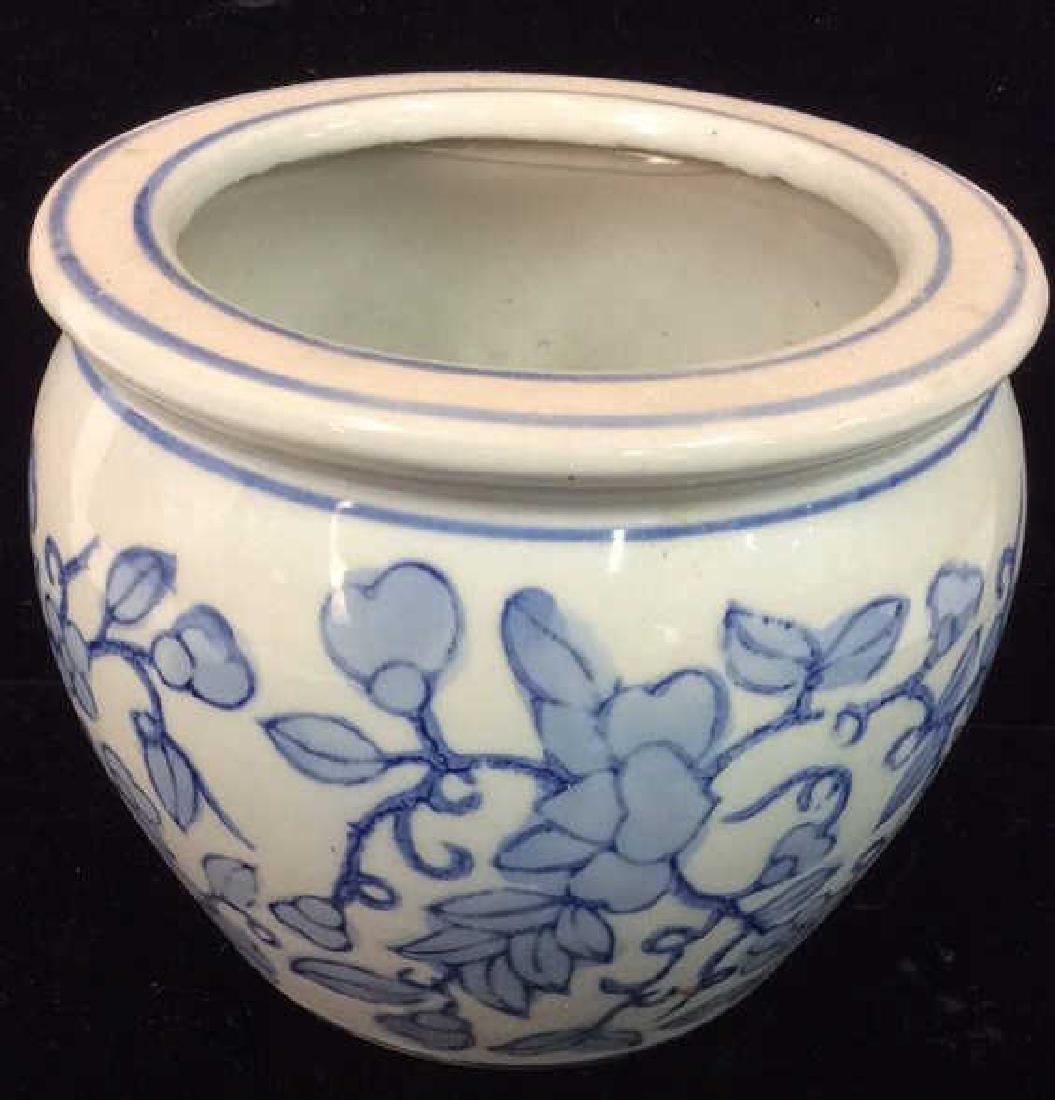 Ceramic Porcelain Floral Design Planter Vase