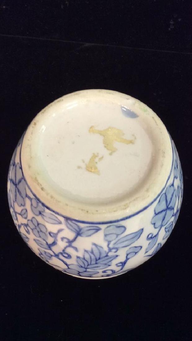 Ceramic Porcelain Floral Design Planter Vase - 3