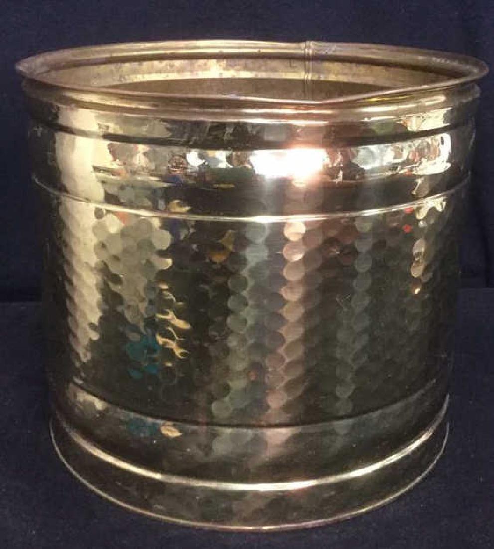 Brass Toned Metal Kindling And Log Bucket
