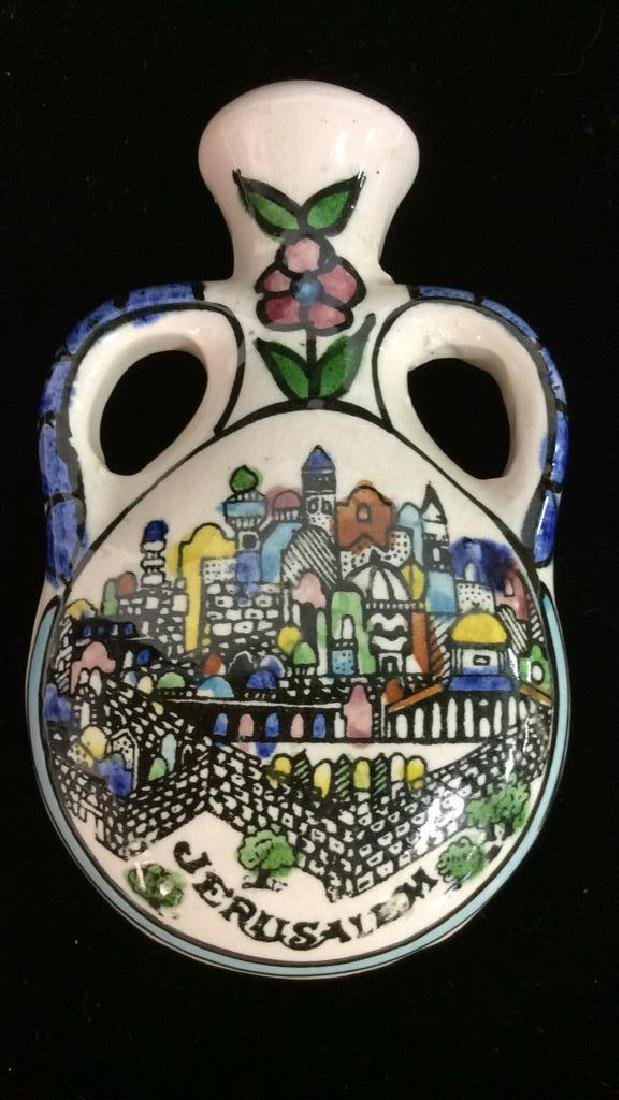 Jug Figural Hand Painted Tabletop Accessory