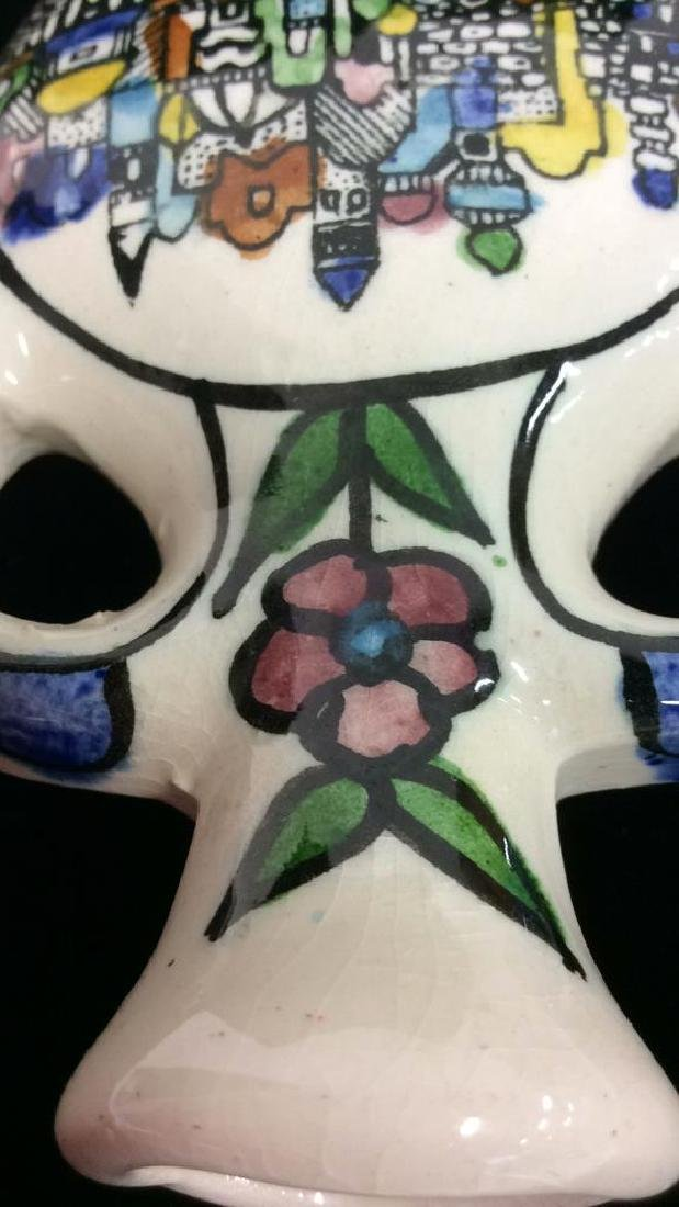 Jug Figural Hand Painted Tabletop Accessory - 6
