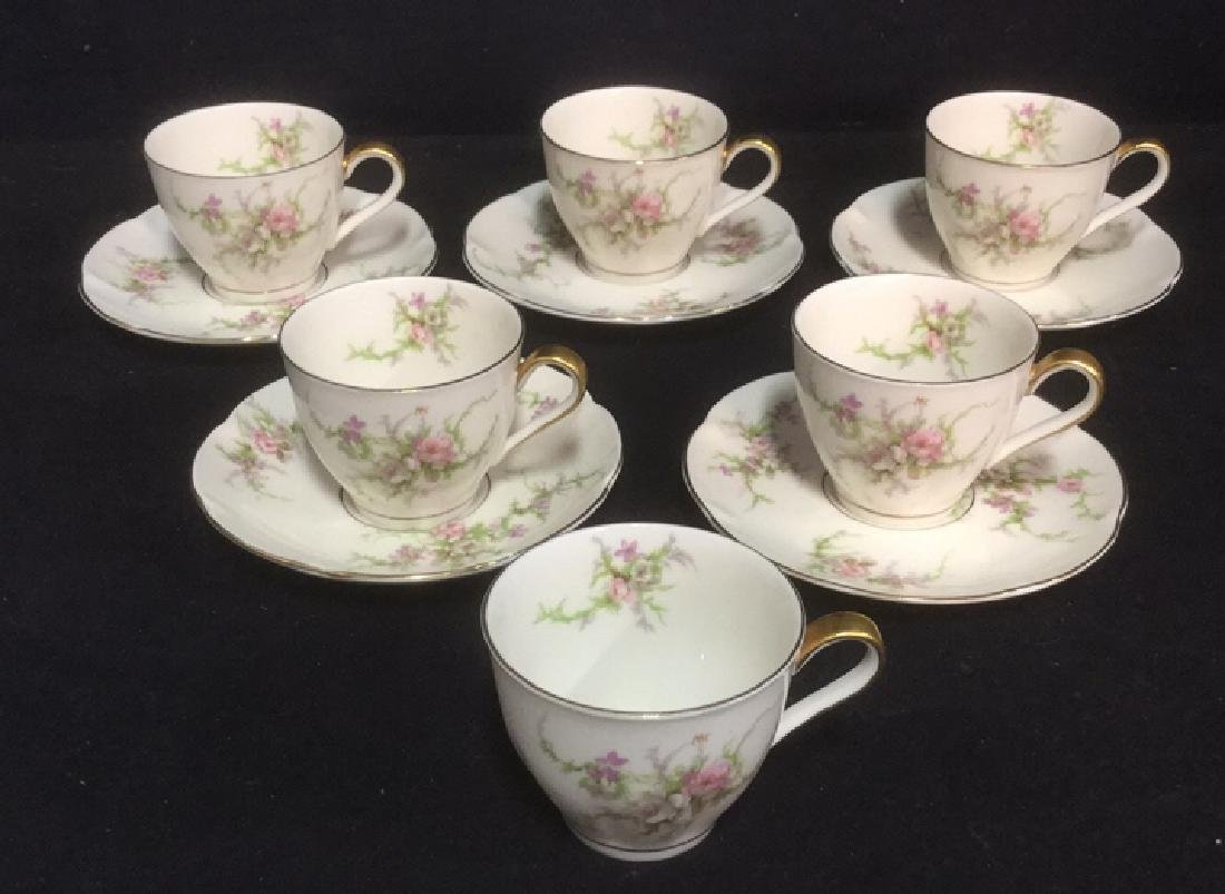 Lot 11 Theodore Haviland Rosalinde Teacups