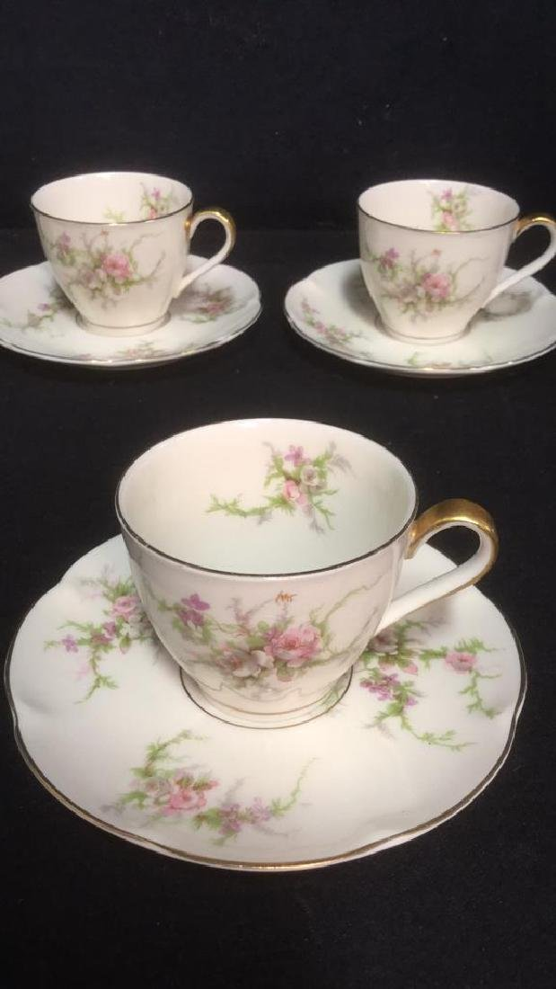 Lot 11 Theodore Haviland Rosalinde Teacups - 3