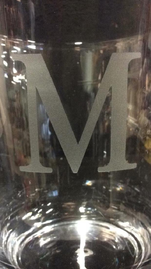 Crystal Glass Monogrammed Ice Bucket - 3