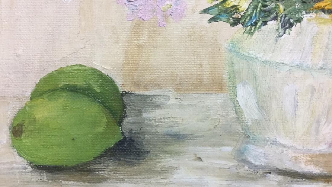 Framed Flower And Fruit Still Life Painting - 5