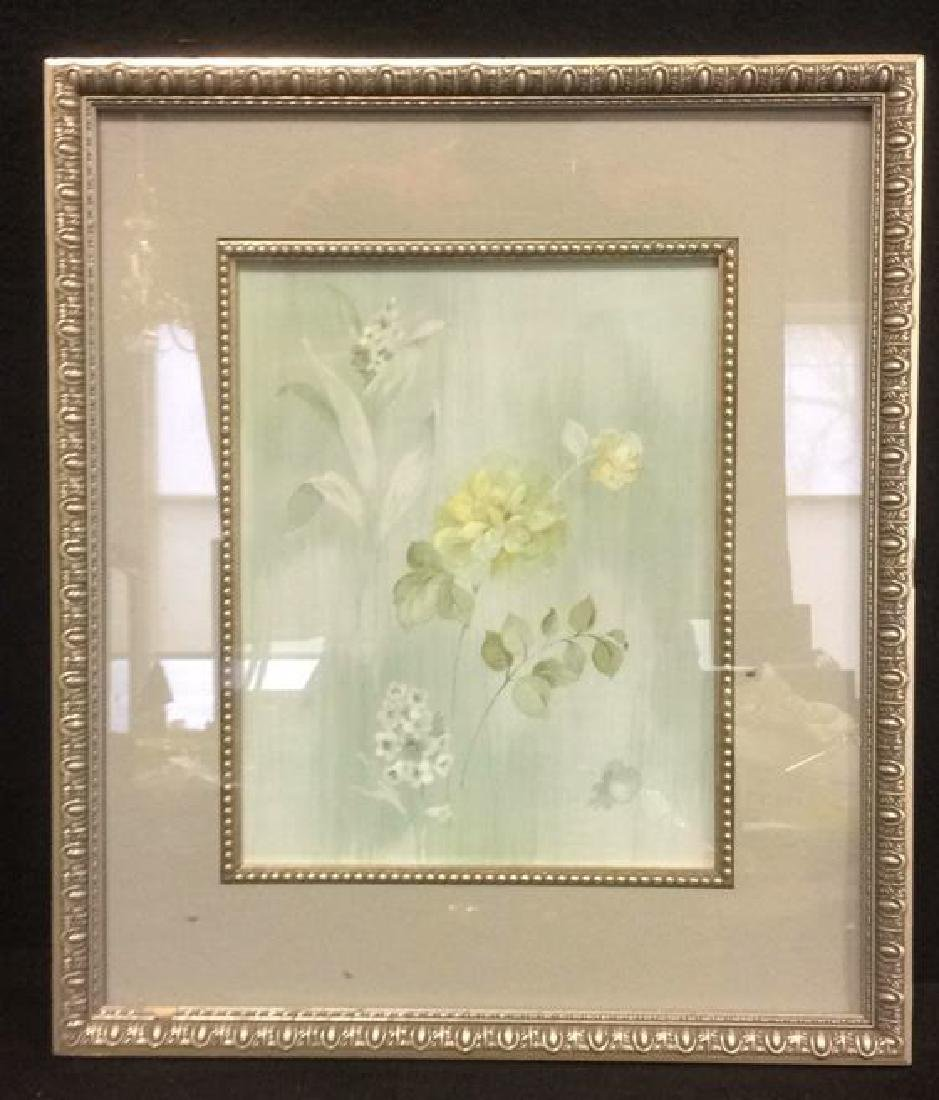 Framed & Matted Floral Print Artwork