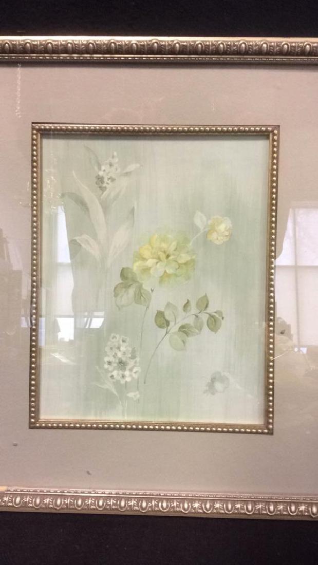 Framed & Matted Floral Print Artwork - 3