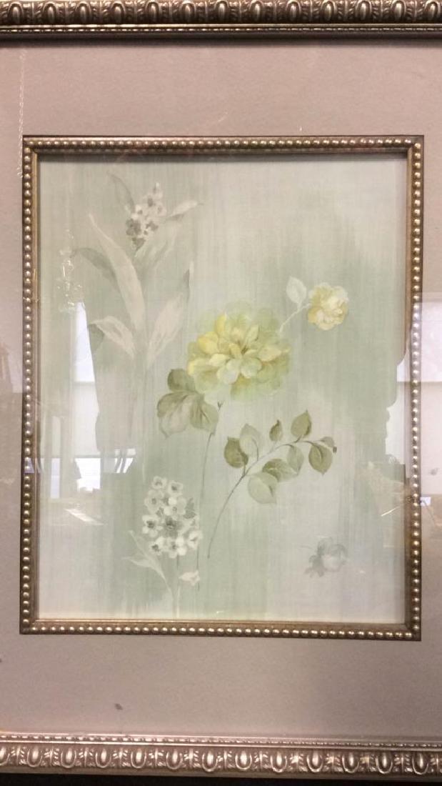 Framed & Matted Floral Print Artwork - 4