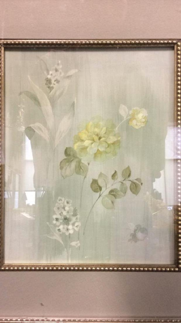 Framed & Matted Floral Print Artwork - 5