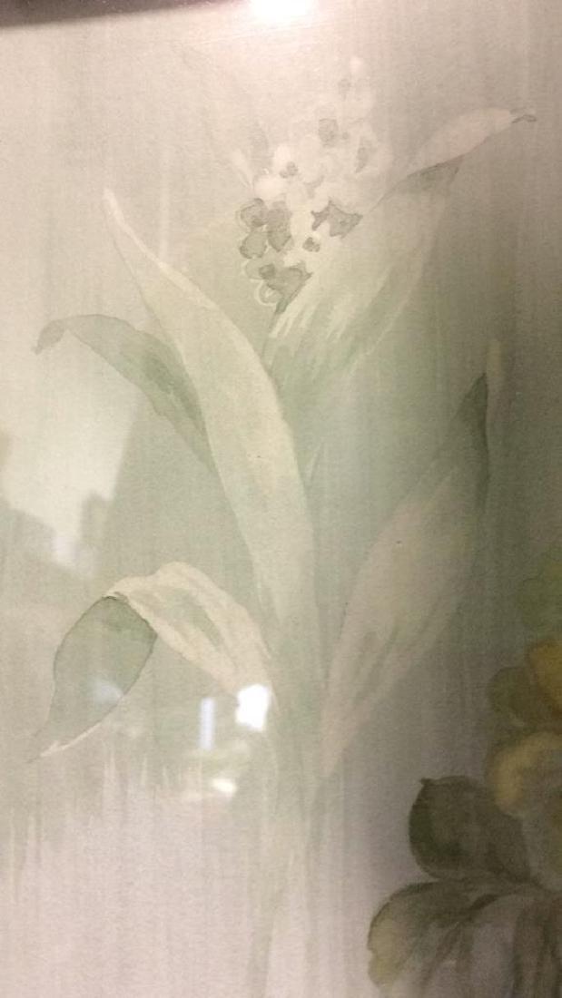 Framed & Matted Floral Print Artwork - 8