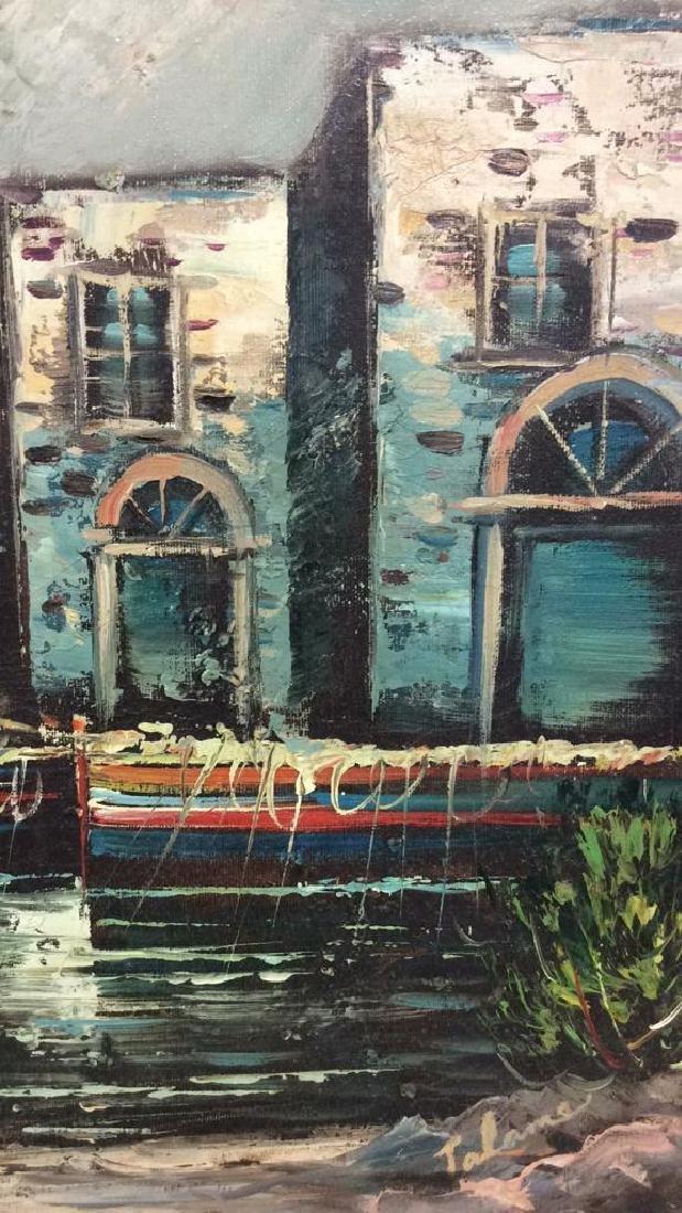 Framed Oil Seaside Landscape Painting - 3