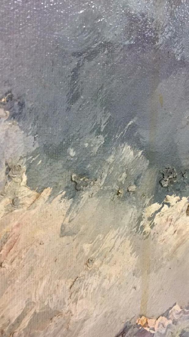 Framed Oil Seaside Landscape Painting - 8