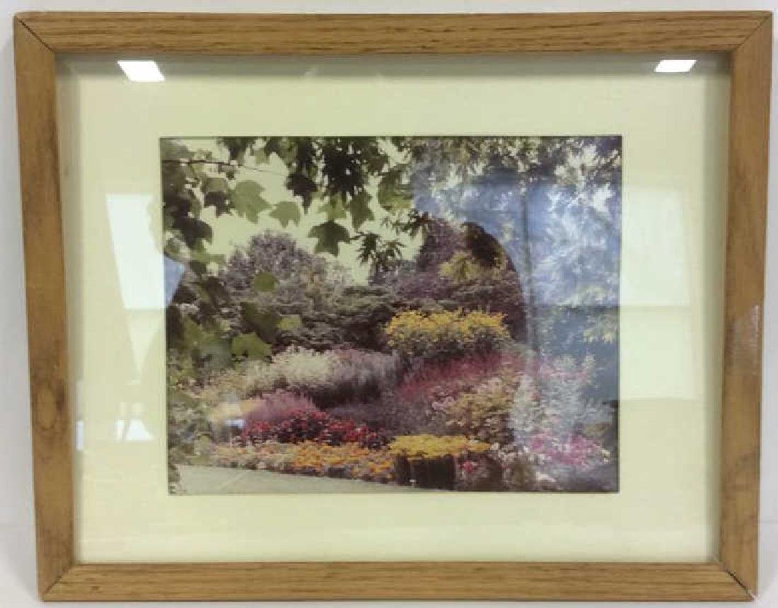Framed & Matted Photo Print Colorful Garden