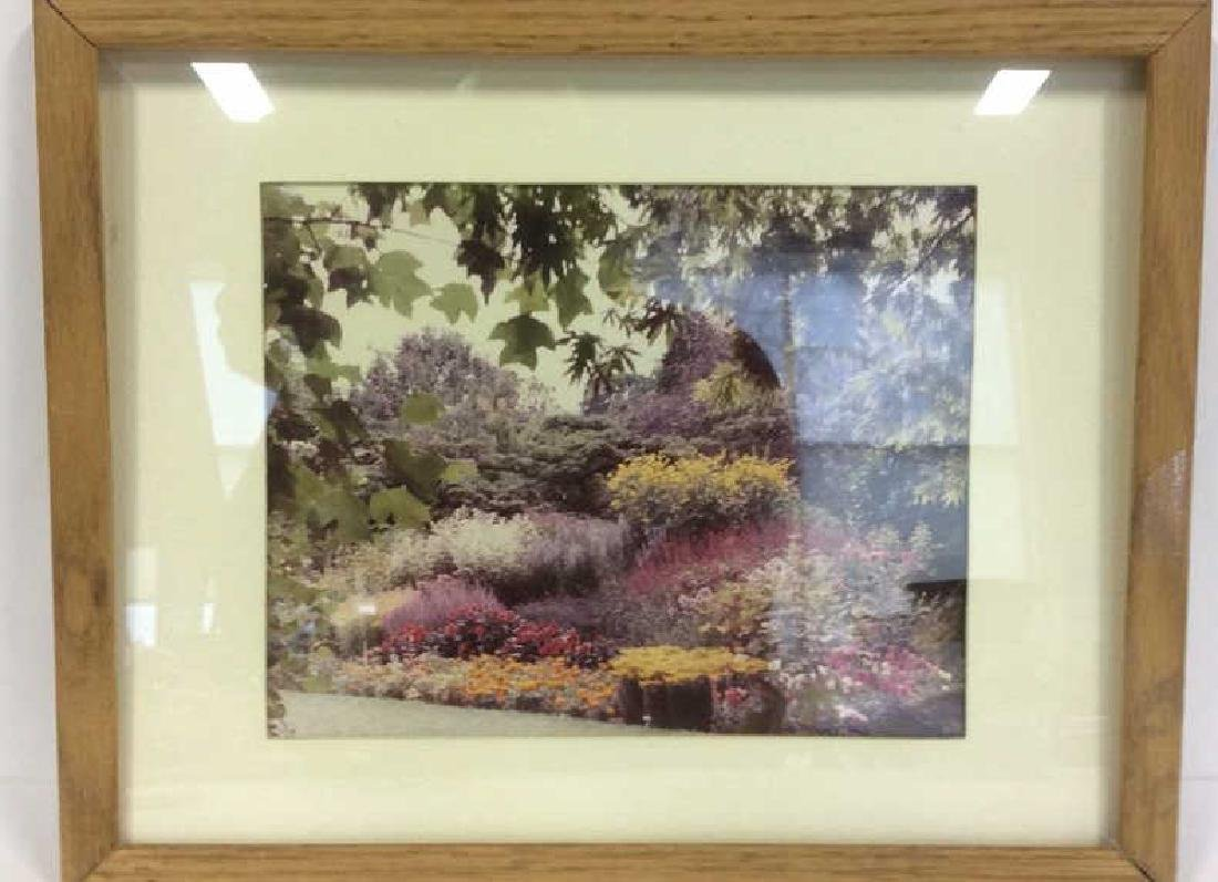 Framed & Matted Photo Print Colorful Garden - 2