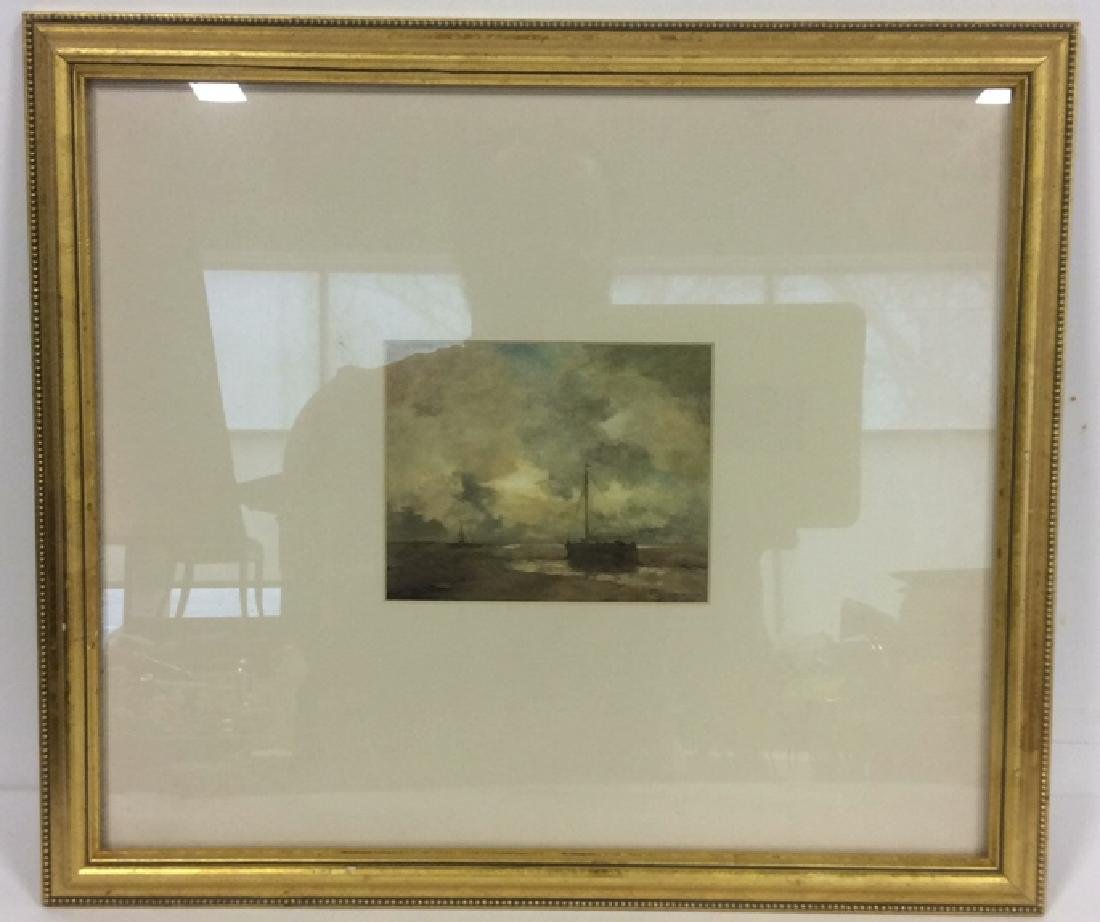 Gold Leafed Framed Nautical Maritime Print
