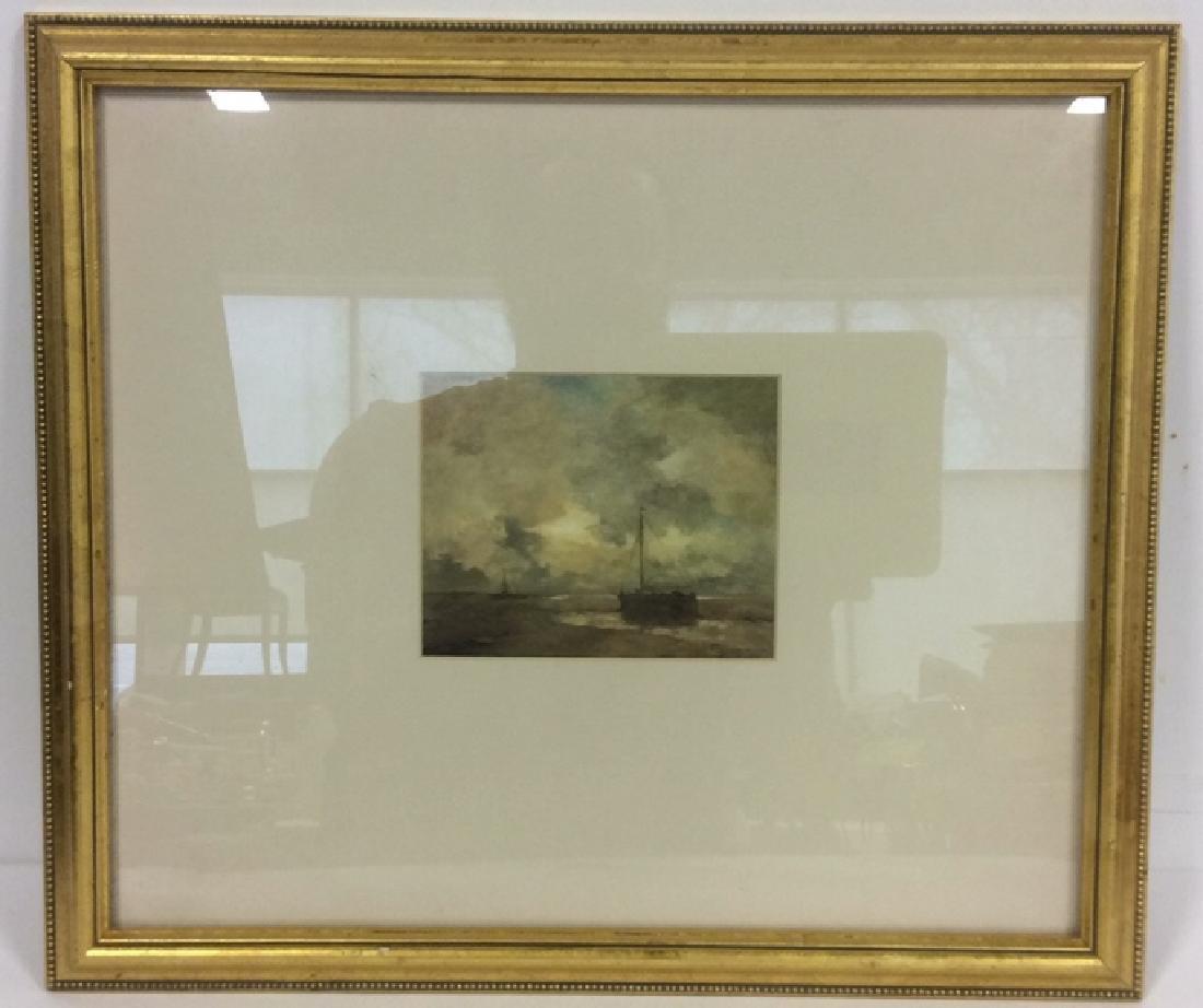 Gold Leafed Framed Nautical Maritime Print