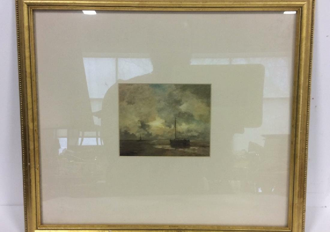 Gold Leafed Framed Nautical Maritime Print - 2