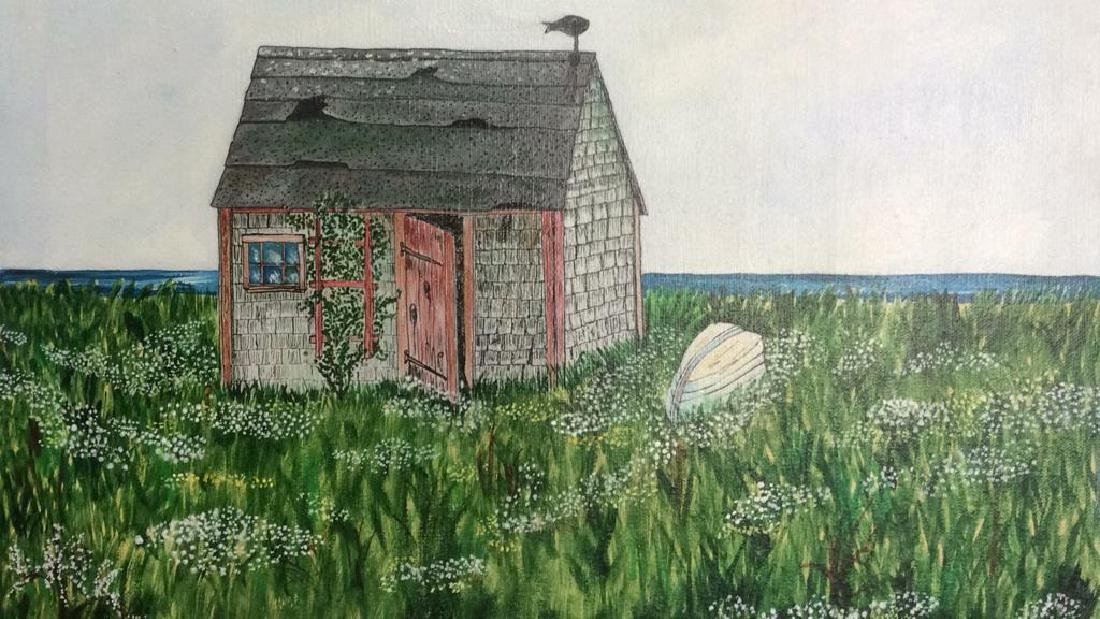MCDOUGALL Possible Painting Of Hut On Canvas