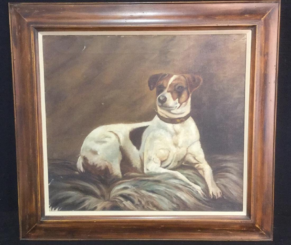 Framed Painting Portrait Of A Jack Russell Terrier - 2