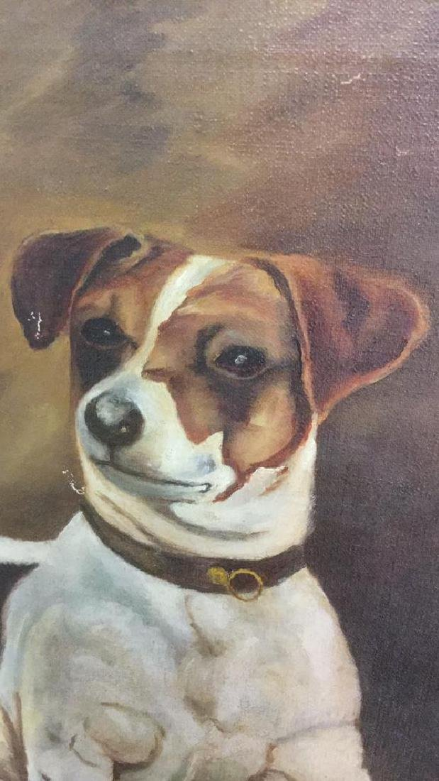 Framed Painting Portrait Of A Jack Russell Terrier - 4
