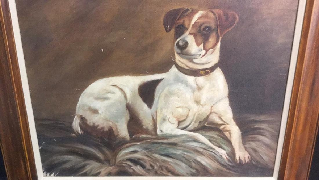 Framed Painting Portrait Of A Jack Russell Terrier - 5