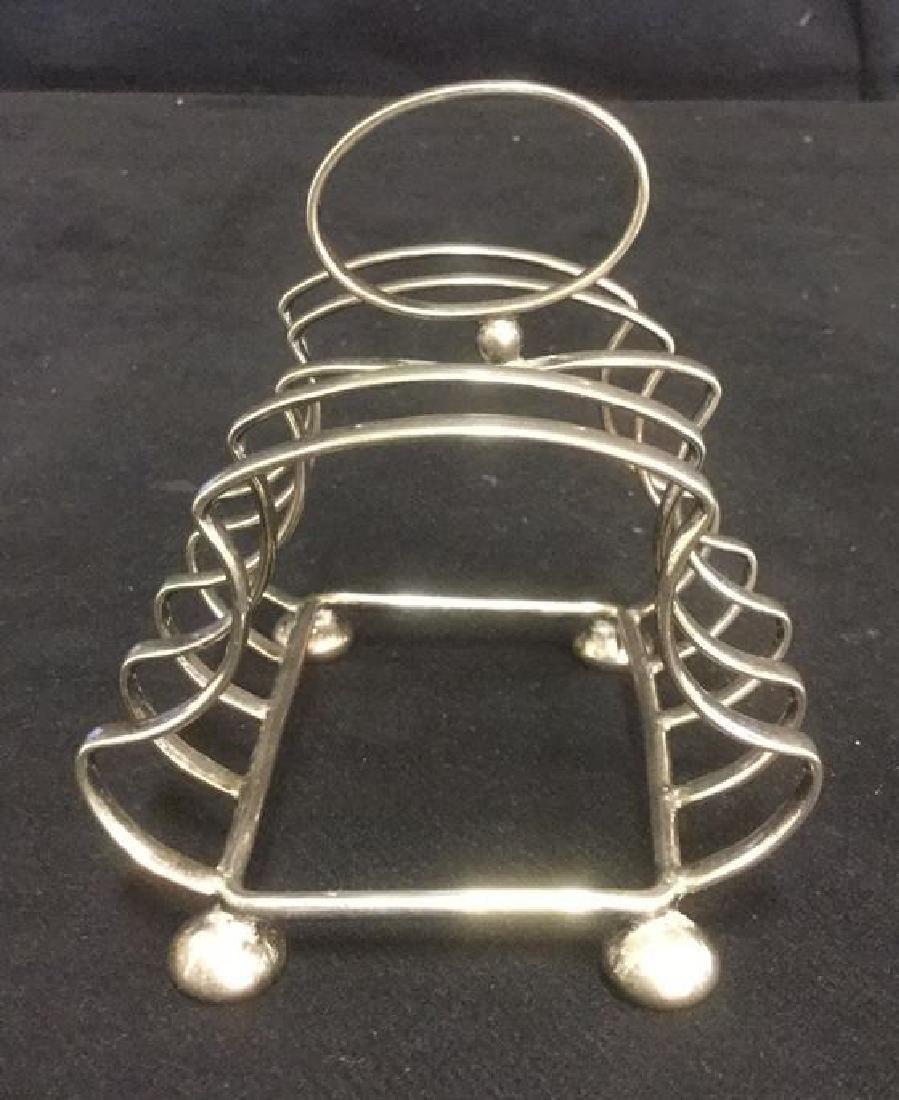 Yeoman Silver Plate Toast Rack Caddy England - 2