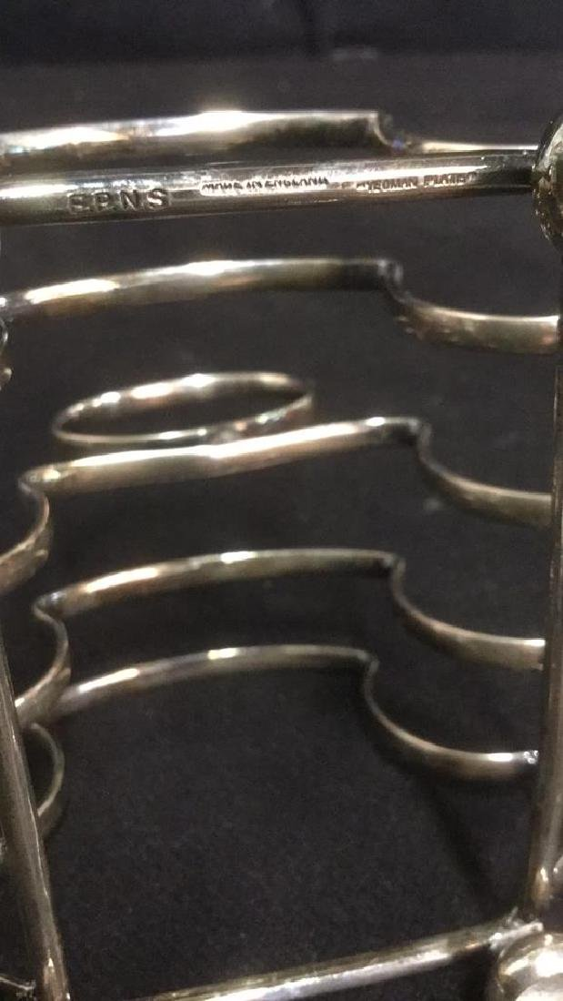 Yeoman Silver Plate Toast Rack Caddy England - 9