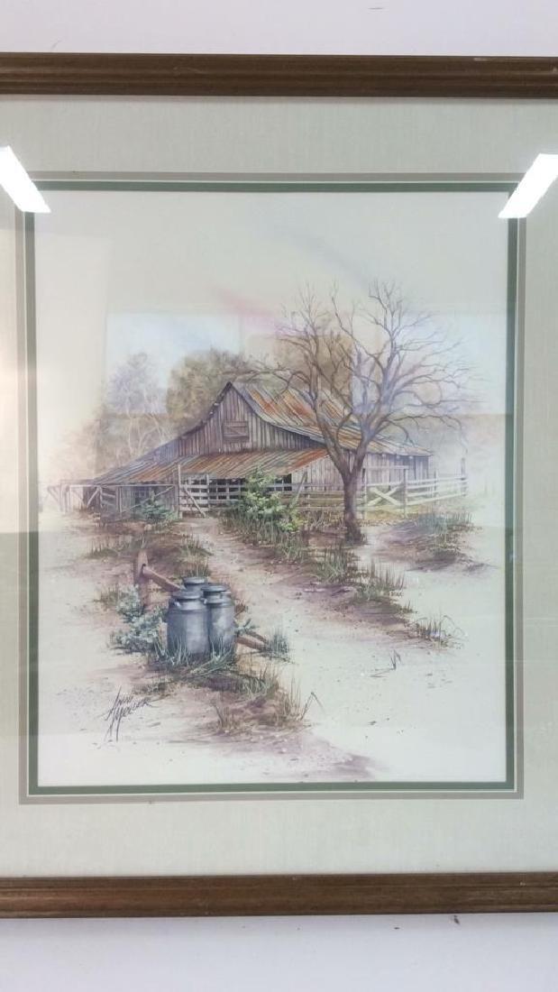 ANNI MOLLER Framed & Matted Barn Yard Print - 2