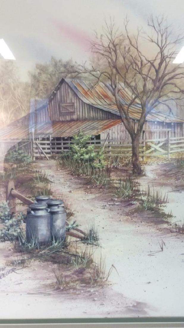 ANNI MOLLER Framed & Matted Barn Yard Print - 3