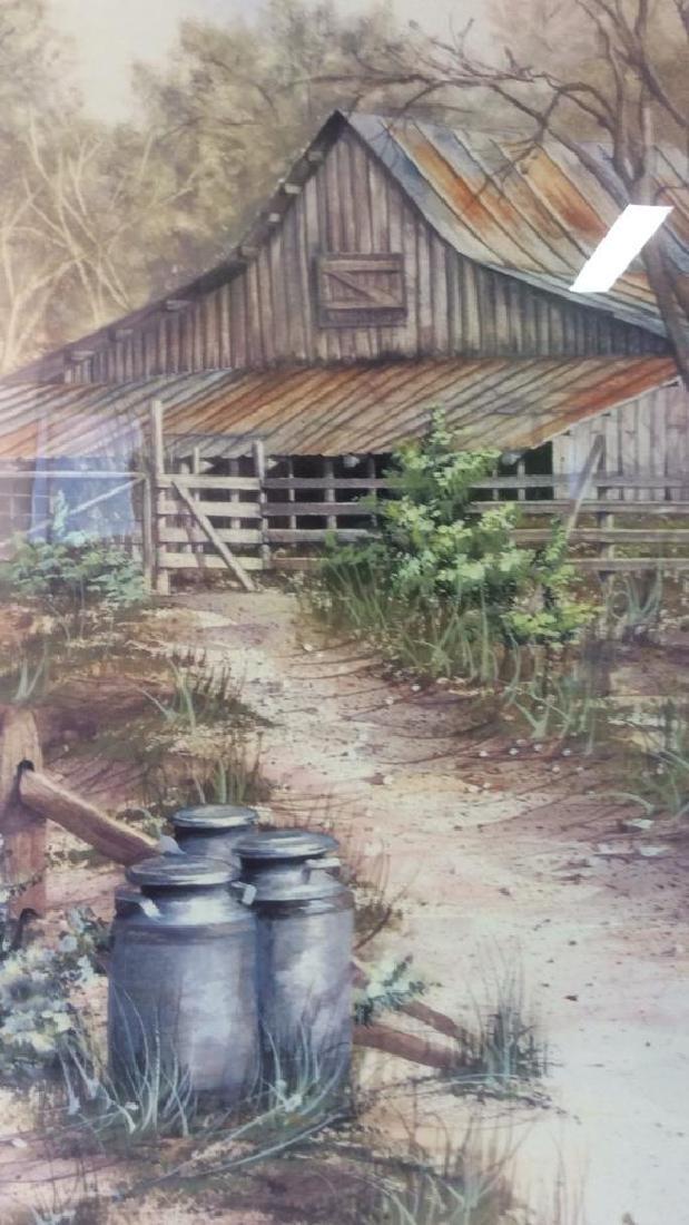 ANNI MOLLER Framed & Matted Barn Yard Print - 4