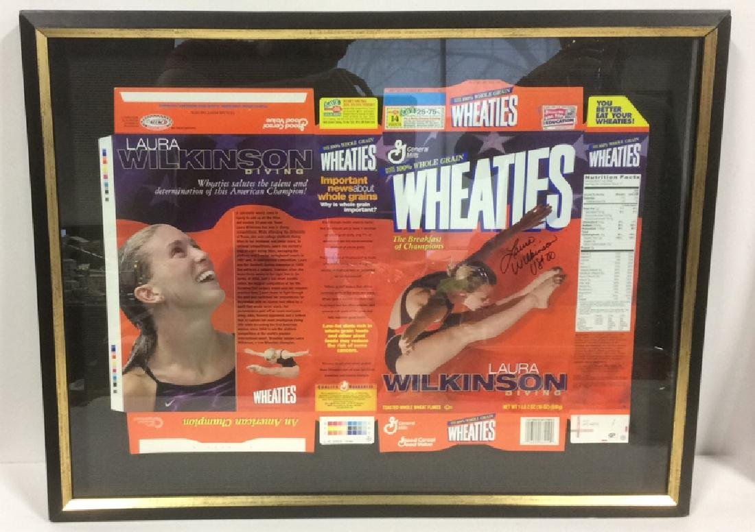 LAURA WILKINSON Autographed Wheaties Box Framed