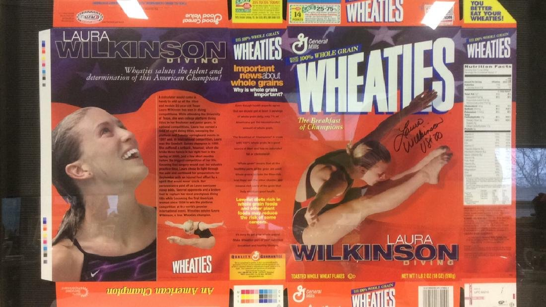LAURA WILKINSON Autographed Wheaties Box Framed - 2