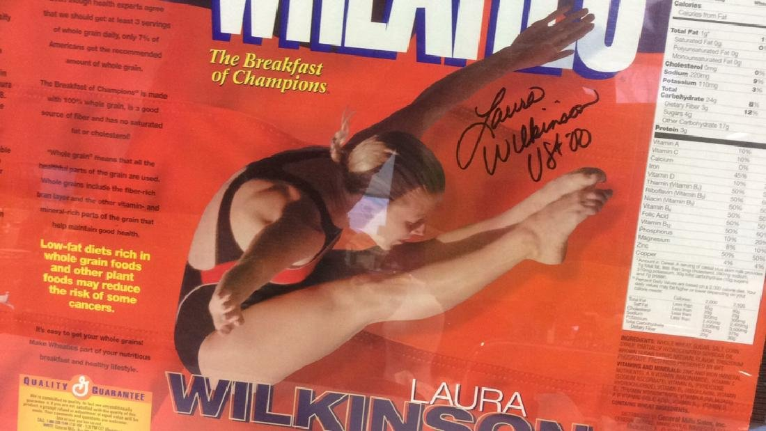 LAURA WILKINSON Autographed Wheaties Box Framed - 4