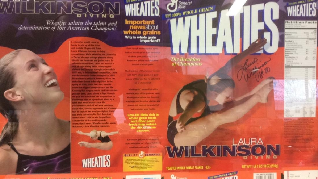 LAURA WILKINSON Autographed Wheaties Box Framed - 5