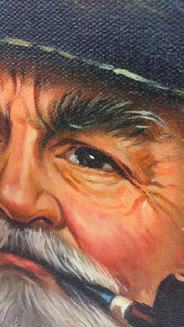 Kim Benson Portrait Of A Sea Captain Oil Painting - 5