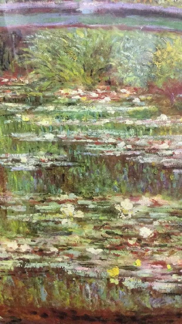 Framed & Matted Monet Print Water Lillies w Bridge - 6