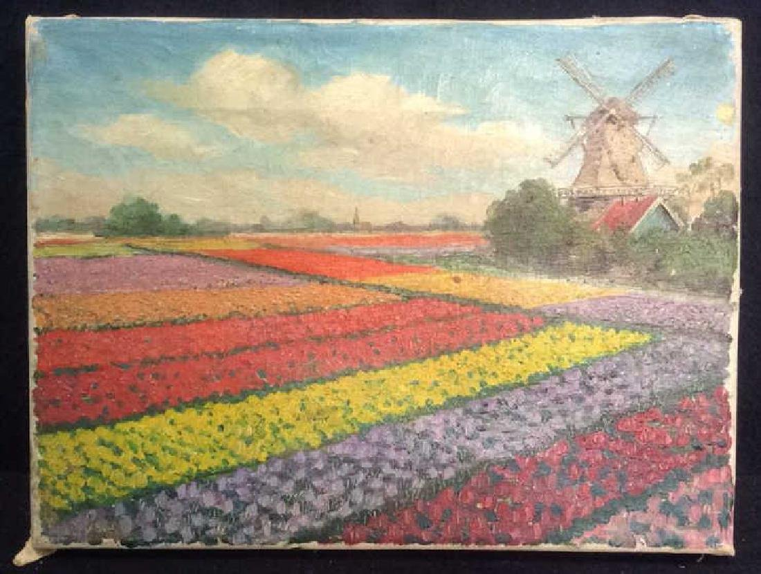 Dutch TulipLandscape Painting On Canvas