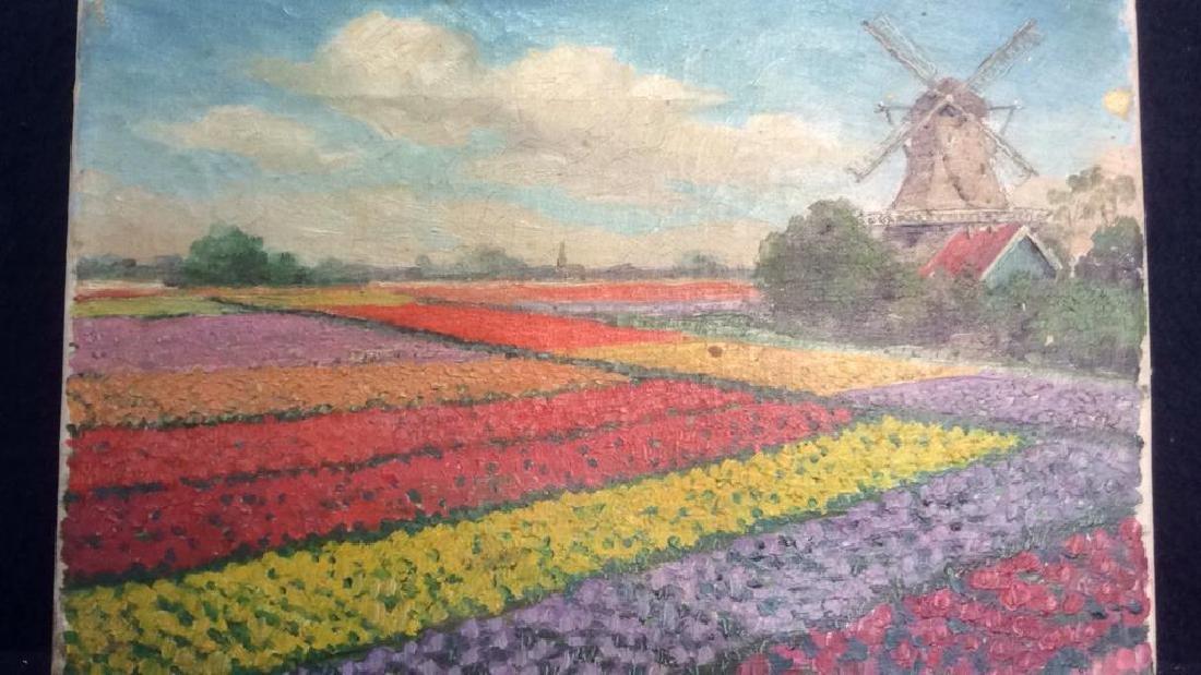 Dutch TulipLandscape Painting On Canvas - 2