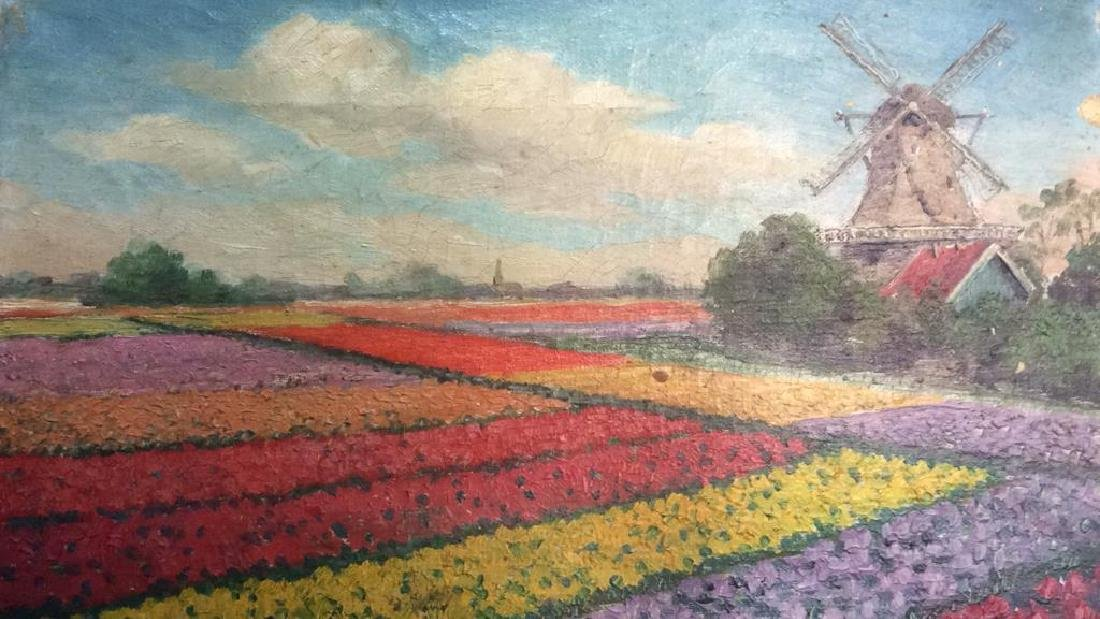 Dutch TulipLandscape Painting On Canvas - 3