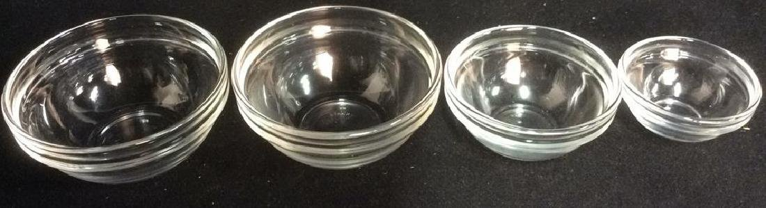 Lot 4 ARC FRANCE Glass Condiment Dishes