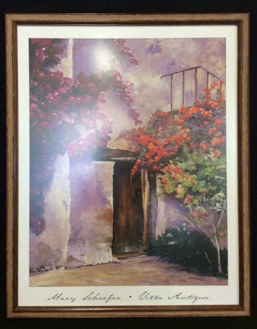 Framed Mary Schaefer Villa Antiqua Poster