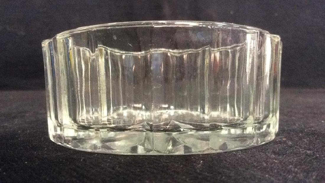 Lot 3 Assorted Glass Tabletop Accessories - 5
