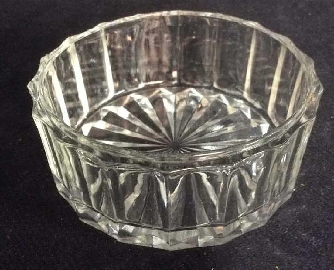 Lot 3 Assorted Glass Tabletop Accessories - 6