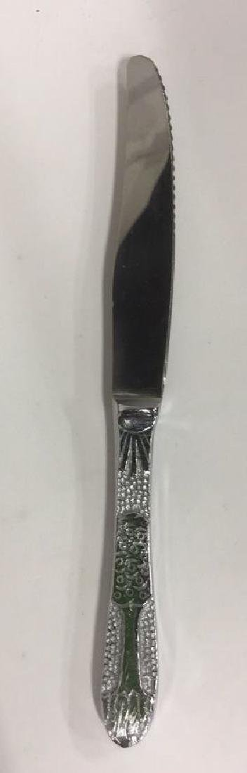 Lot 6 Judaica Set Of Silver Toned Knives w Box - 5